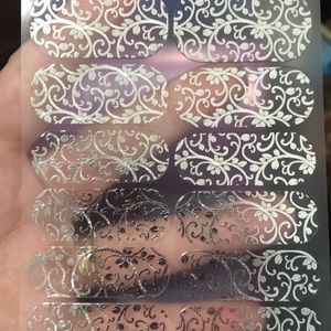Jamberry Silver Floral Nail wraps